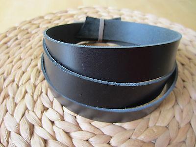 "50"" LONG BLACK 2mm (5oz) THICK BRIDLE / BUTT LEATHER STRAP VEG TAN VARIOUS WIDTH"