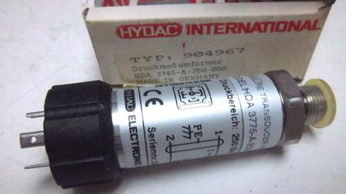 HYDAC TRANSDUCER HDA-3775-A-250-000 NEW HDA3775A250000