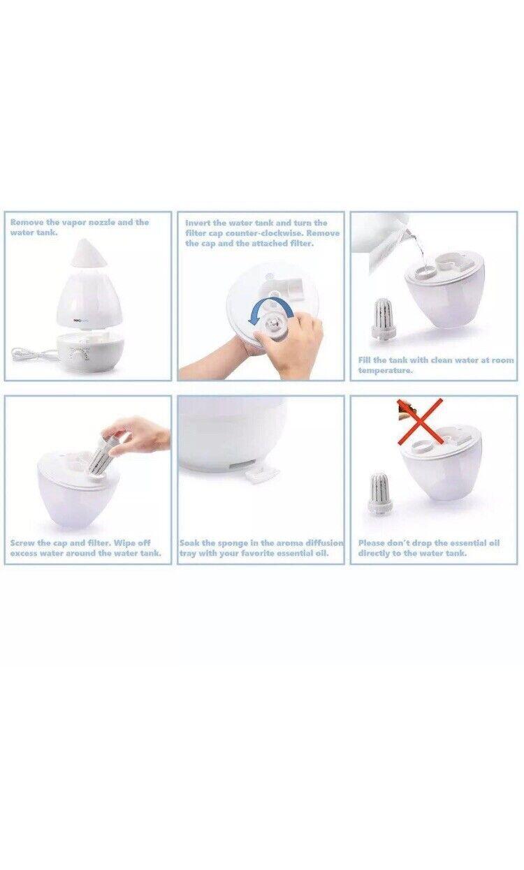 INNObeta Cool Mist Humidifier Baby Ultrasonic 2,4L Cool Mist, 7 Led Light, Aroma 616919829061 | eBay