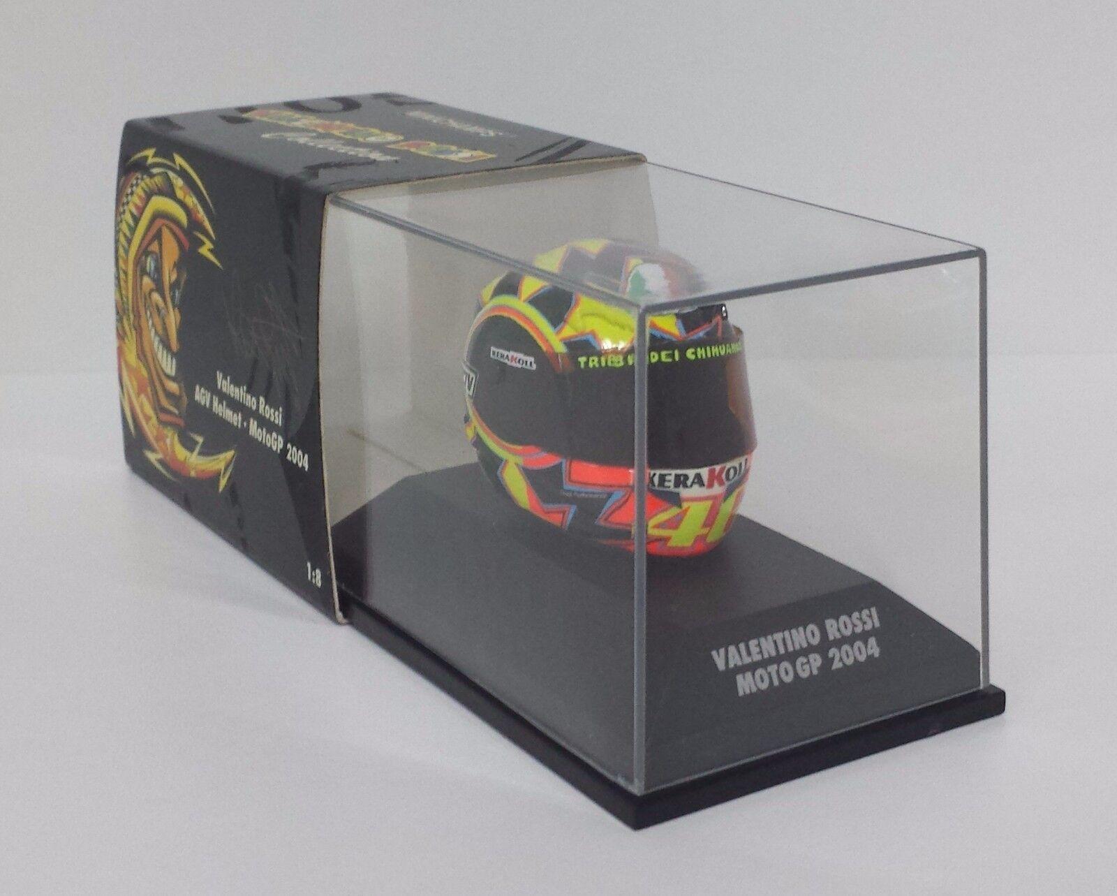 Minichamps Valentino Rossi  Modèle AGV Casque Helmet 1 8 Moto Gp 2004 nouveau Rare  jusqu'à 65% de réduction