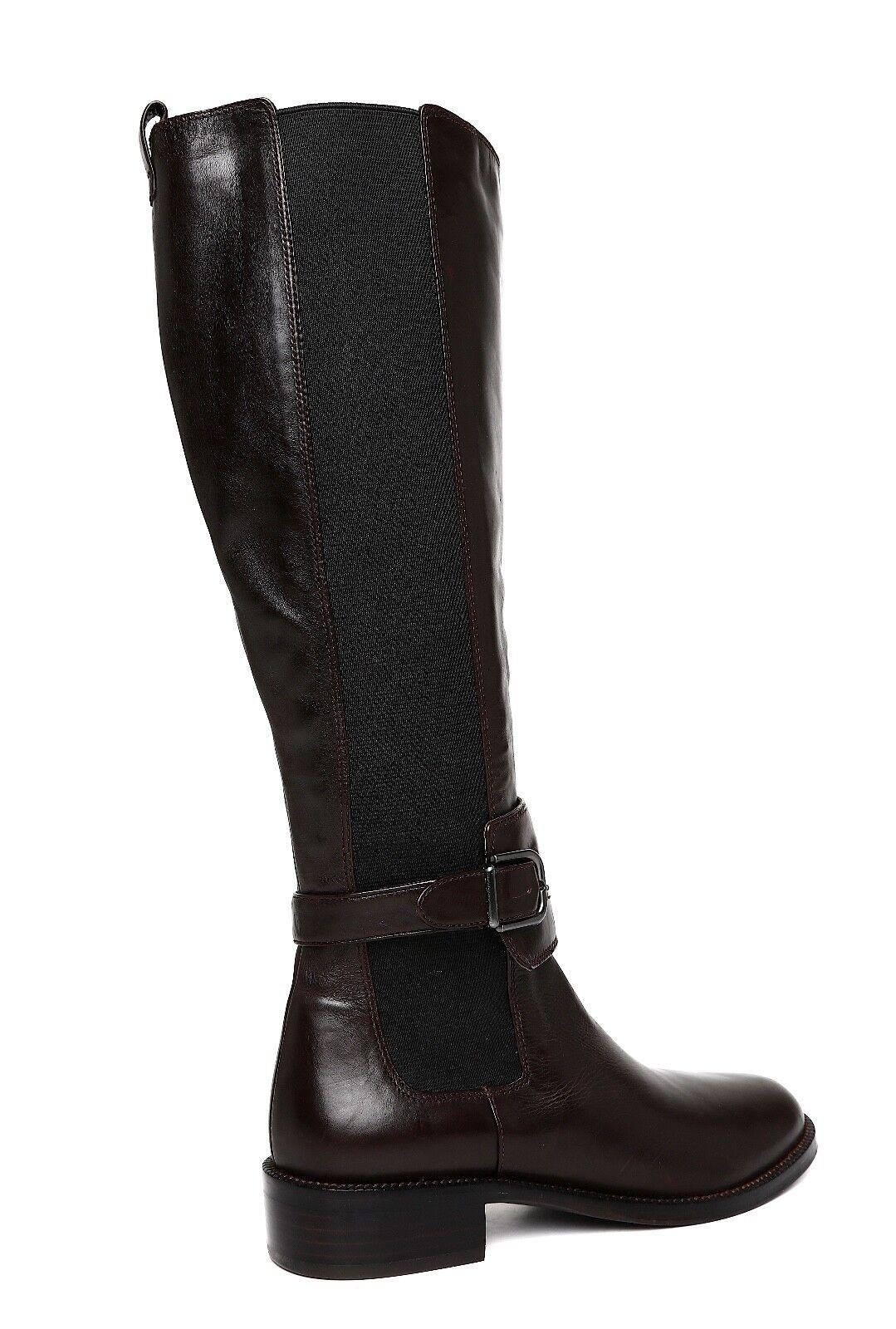 Via Spiga Bufu Tall Leather Stiefel Dark braun damen Sz Sz Sz 7 M 2050  55424c