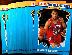 1990-91-Fleer-CHARLES-BARKLEY-20-CARD-LOT-HOF-ALL-STAR-CARD-1-of-12