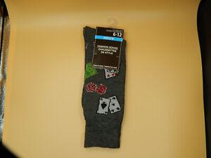 Mens-Fashion-Novelty-Socks-size-6-12-Gambling