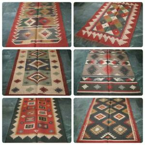 Sonstige Gehorsam Großhandel Lot 5pc Kelim Teppich Jute Wolle Marokkanische Persisch Vintage Decke Teppiche & Flachgewebe