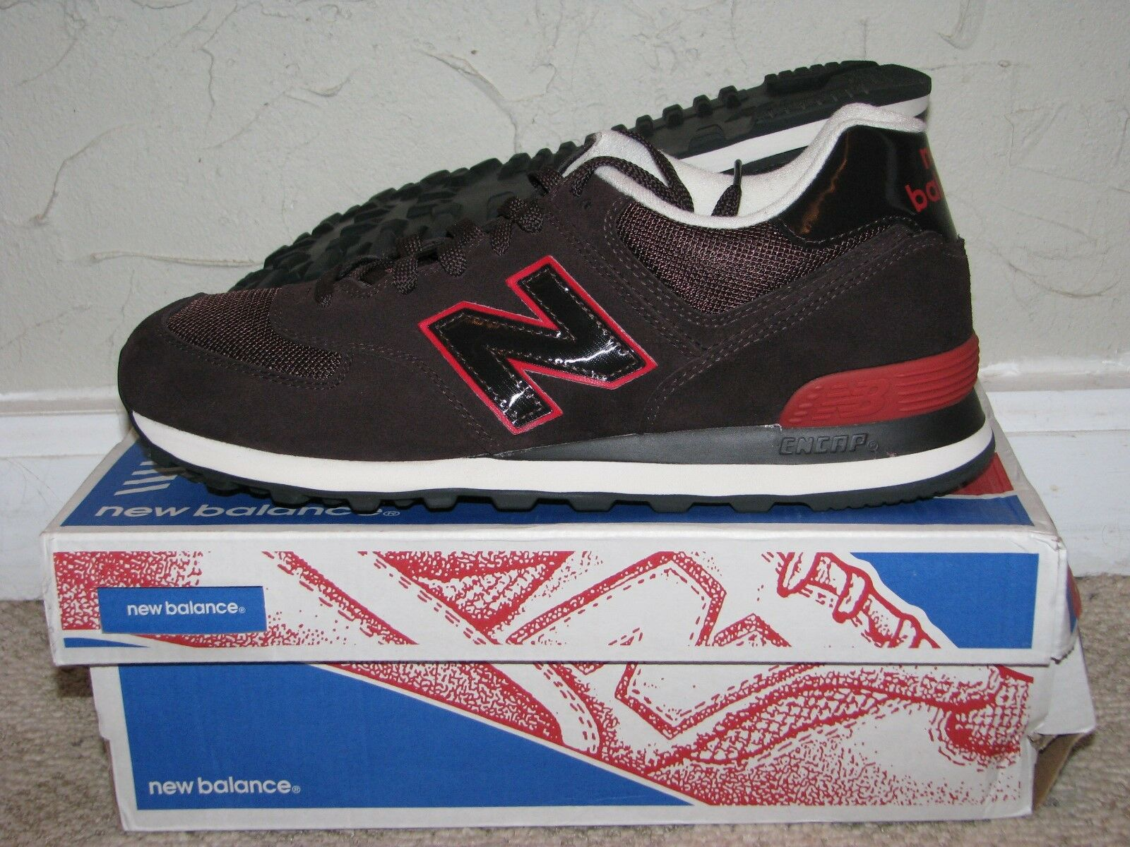 New Balance ML574CCR Brown   Red Size 9.5 EUC  574 576 577 580 998 1400 1500 247