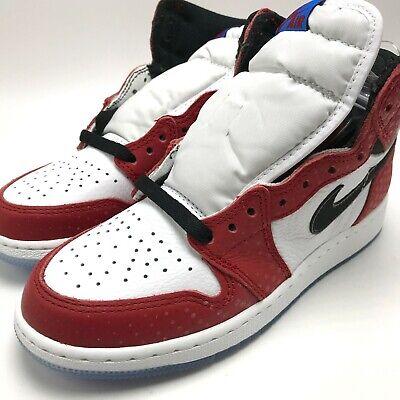 """Brand New Nike Air Jordan 1 Retro High OG BG /""""Perforated/"""" Sneakers 575441 100"""