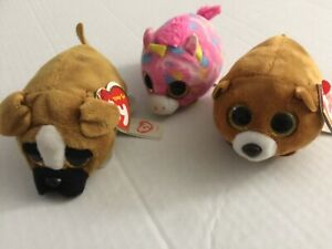 Ty Beanie Boos Teeny Tys Lot of 3 animal pets Diggs Windsor Star Sparkle Eyes