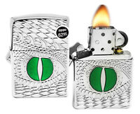 Zippo 28807 Armor Dragon Eye Deep Carved High Polish Chrome Finish Lighter