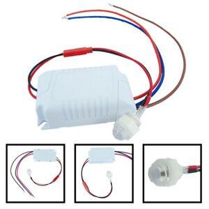 Mini-Bewegungsmelder-zum-Sensor-90-250VAC-Unterputz-fuer-LED-bis-800W-PIR-Gut-ss