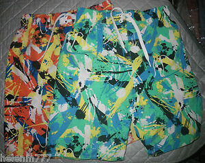 Coloured Size Boys Stretch 7 Set Shorts Wavezone Multi Board 2 Waist qX81gw1