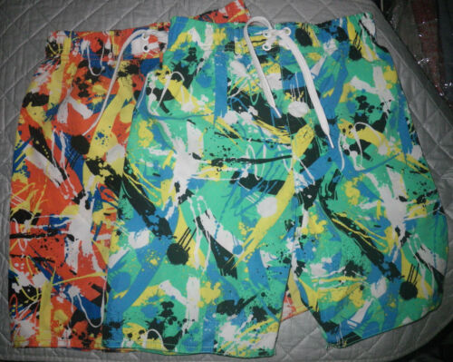 2 Coloured Shorts Multi Size Wavezone Set Boys Waist Board 7 Stretch H4wHrPq
