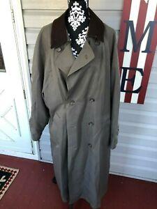 Vintage Men S London Fog Trench Long Coat 46r Ebay