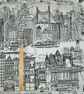 Image Is Loading Schumacher New York Cotton Toile Fabric