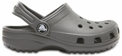 crocs Clog mit Fersenriemen Classic Clog Kids Slate Grau Croslite Normal Kinder