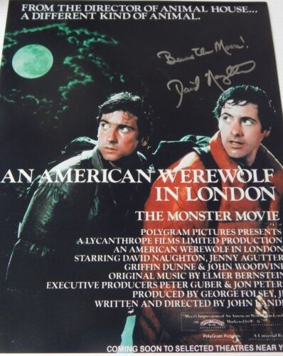 DAVID NAUGHTON Signed Autographed 11x14 PHOTO AMERICAN WEREWOLF w/ INSCRIPTION