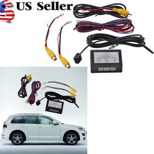 1X Car Front Rear Parking View Camera Video Switch 2 Channel Control Box US
