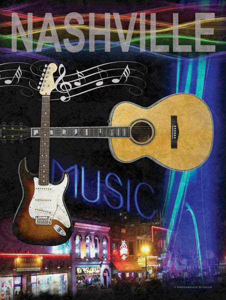 Todd Williams  Nashville Keilrahmen-Bild Leinwand Country Musik Gitarre
