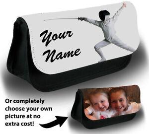 Personalised-Fencing-Make-Up-Bag-Case-Equipment-Fencer-Mask-Sword-Kids-Gift-X553