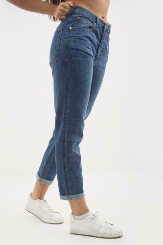 NUOVO Donne Ragazze Denim Elasticizzato Boyfriend Jeans MAMMA UK Taglia 8 10 12 14