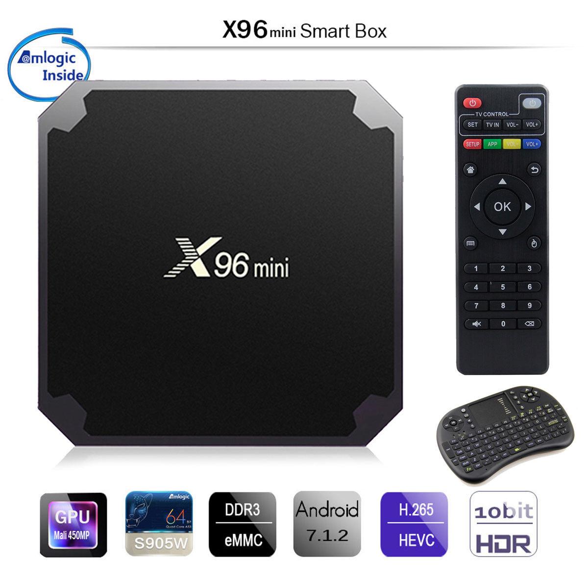 s-l1600 Hot X96 Mini 8G 16G Amlogic S905W Quad Core 4K WIFI Smart TV Box Android 7.1 FZC