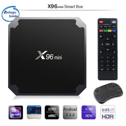 Quad Core 4K WIFI Smart TV Box Android 7.1 FZC Hot X96 Mini 8G 16G Amlogic S905W