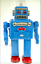 SMOKING-ROBOT-SPACEMAN-BLUE-Battery-Operated-Robot-HAHA-TOY thumbnail 1