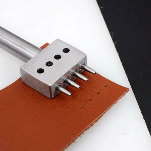4//5//6//8mm Leather Craft Hole Punches Spacing 1mm Diameter Tools 2//4//6 Prong
