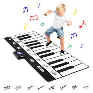 BCP Giant Piano Keyboard Playmat w/ 8 Instrument Settings - Black/White