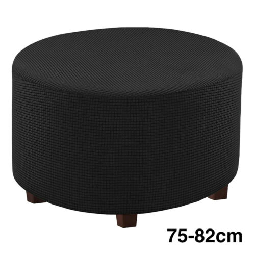 Multifunction Living Room Home Round Ottoman Slipcover Footstool Protector Cover