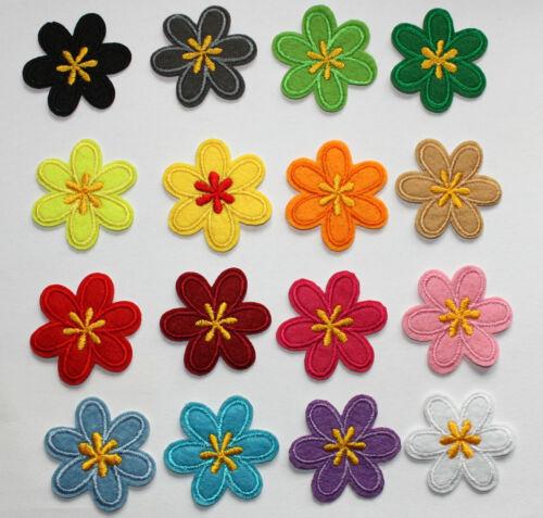 Blumen Aufnäher / Aufbügler ST Bügelbild Kinder Applikation flower patch flowers