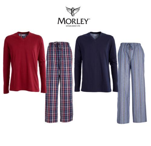 Morley Mens Brooklands Cotton Long Pyjamas Nightwear Loungewear US15M