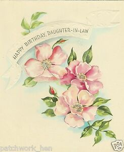Image Is Loading Vintage Happy Birthday Daughter In Law Greeting Card