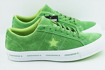 CONVERSE One Star Pinstripe Mint Green & Jade Lime & White