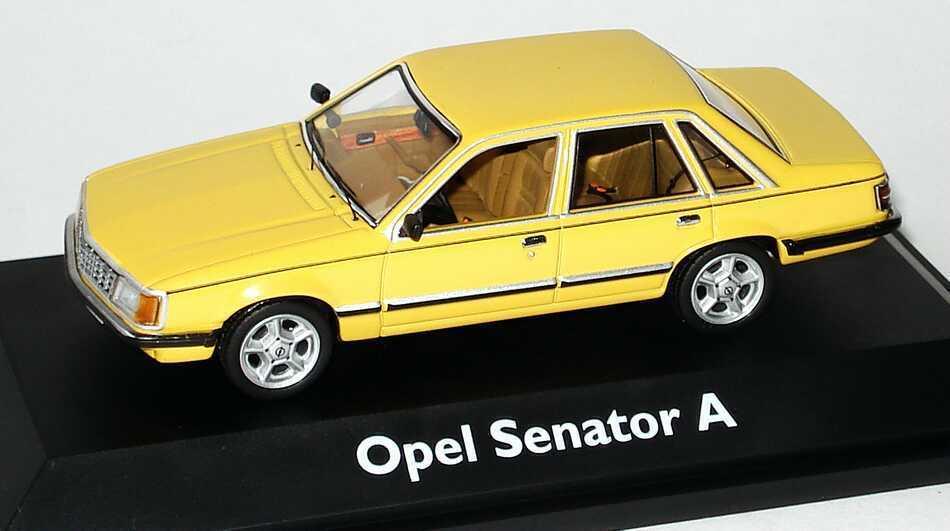 OPEL SENATOR A 2.0 S JAMAIKA jaune SCHUCO  03302 1 43 jaune JAUNE JAMAIQUE