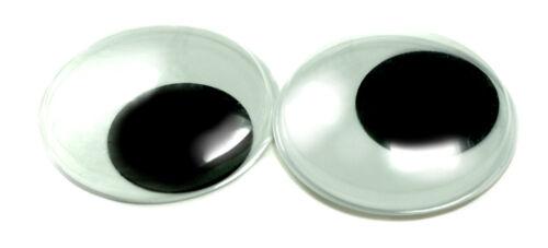 10 wackelaugen 50 mm auto-adhésif 5 Paire Noir//Blanc//Bricolage//enfants//école