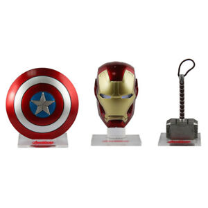 Avengers-Iron-Man-helmet-Thor-hammer-Captain-America-shield-Weapons-Accessories