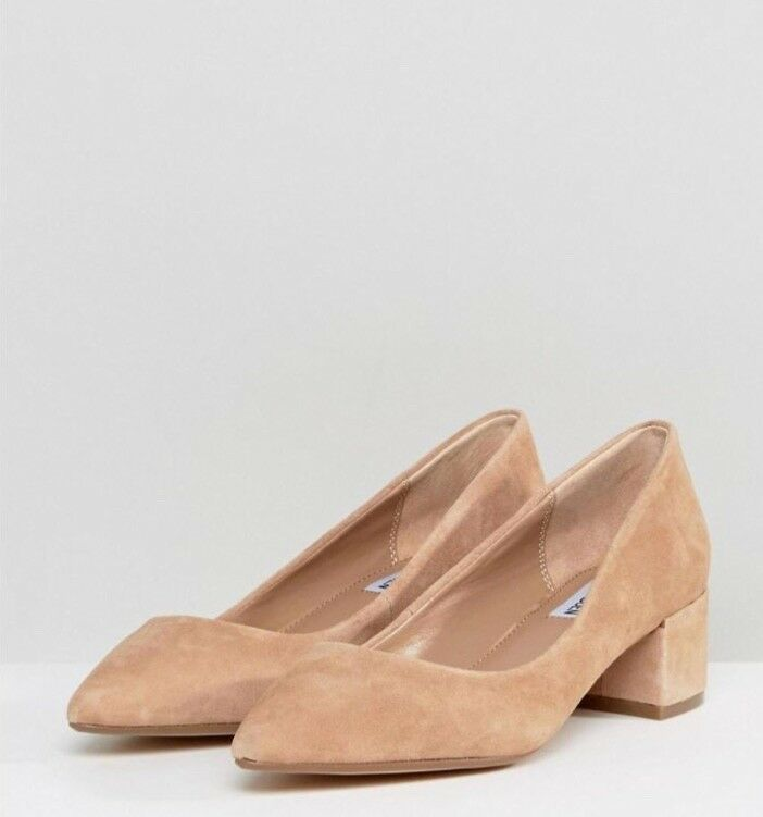 Steven Maden damen Cormac Taupe Taupe Taupe Low Block Heel Pumps Suede. Sz. 7M  49.99 9782ac