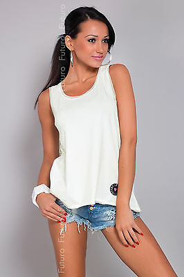 Sexy Women's Vest Top Scoop Neck Sleeveless T-Shirt Sizes 8-14 FT860