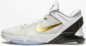 sale retailer 092b4 4d529 Image is loading Nike-Zoom-KOBE-VII-SYSTEM-ELITE-HOME-WHITE-