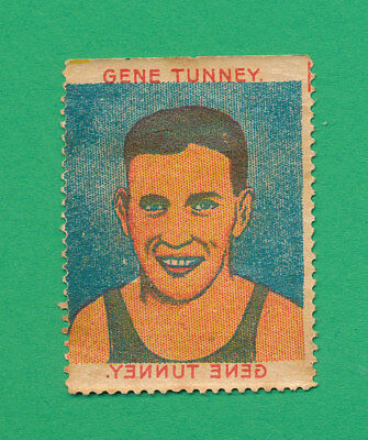 RARE 1920's BOXING TRANSFER STAMP GENE TUNNEY TATTOO STYLE
