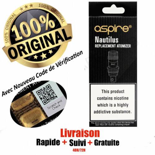 Resistances Aspire.Nautilus BVC Coil/'s 1.6//1.8//0.7 ohm Pack de 5//10//15//20 COILS