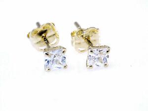 585 Gelbgold Ohrstecker 1 Paar 5 mm Grösse mit  Zirkonia Steinen   4 Krappen