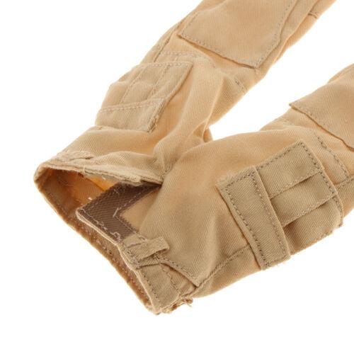 """1//6 gli outfit a quadretti Camicia /& Cachi Combat Pants 12 /""""Action Figure accessori"""