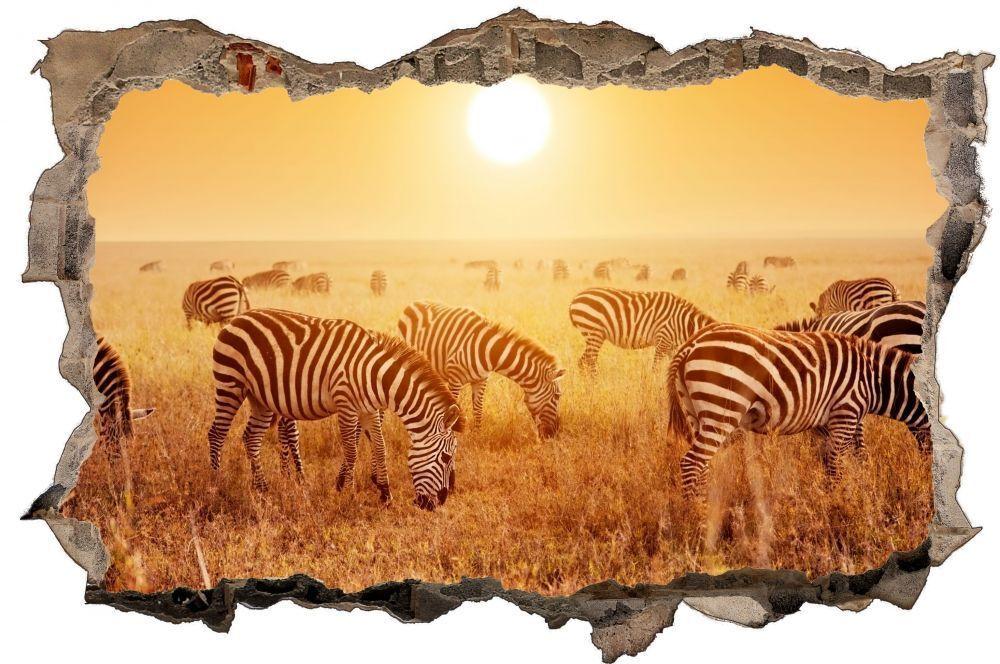 Zebra troupeau Afrique Safari Mural Sticker Autocollant Autocollant Autocollant d0296 99f6d5