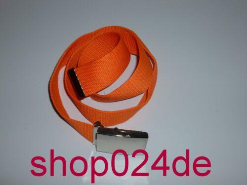 Tissu ceinture Canvas Belt différentes couleurs longueur 110 CM NEUF