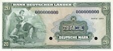 Ro.260M 20 DM / Deutsche Mark 1949 (1) SPECIMEN