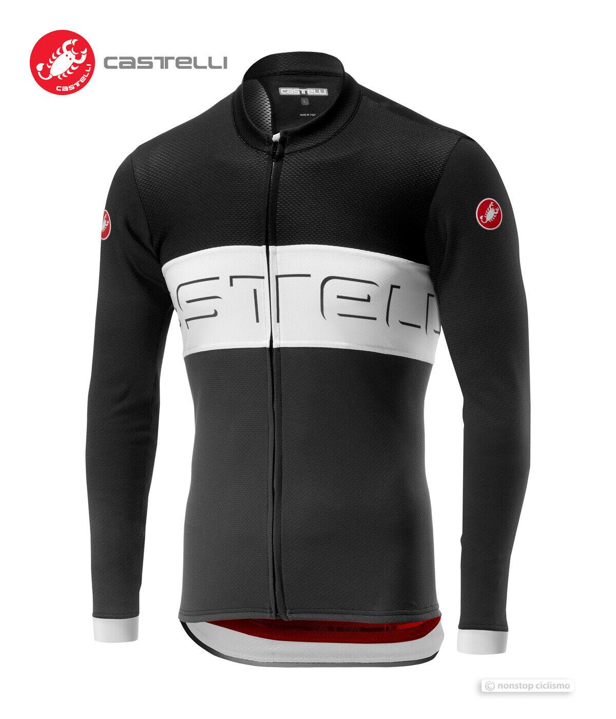 Castelli 2019 Prologo VI Lang Radsport Jersey  Schwarz Elfenbein Dunkelgrau