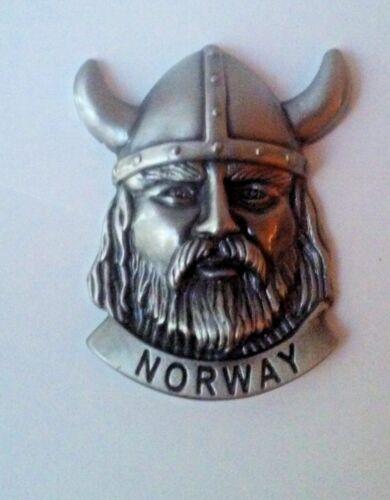 NEW Norway Pewter Viking Head Magnet