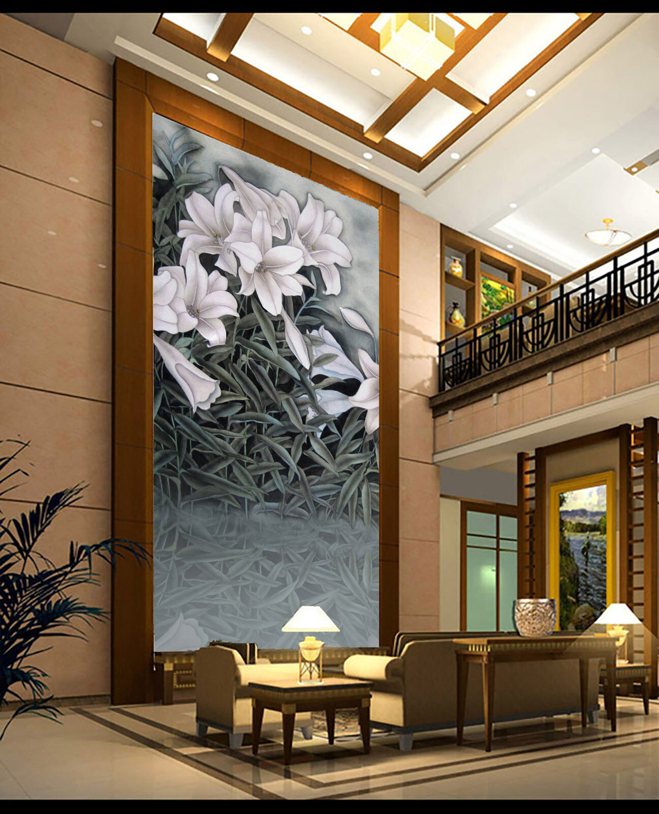 3D Elegant Graceful Flowers 38 Wall Paper Wall Print Decal Wall AJ Wall Paper