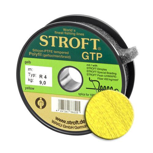 Schnur STROFT GTP Typ R Geflochtene 100m gelb Angelschnur Made in Germany Leine